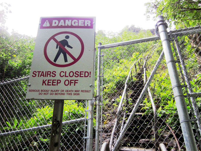 Gate to Haiku Stairs